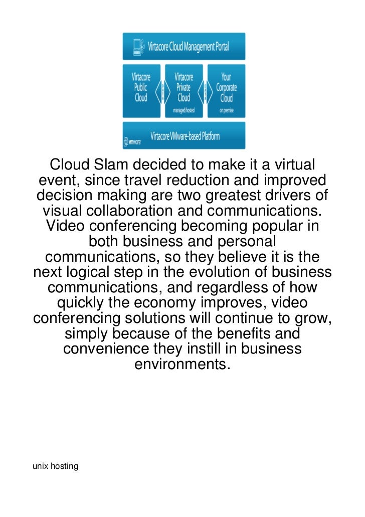 Cloud Slam decided to make it a virtual event, since travel reduction and improved decision making are two greatest driver...