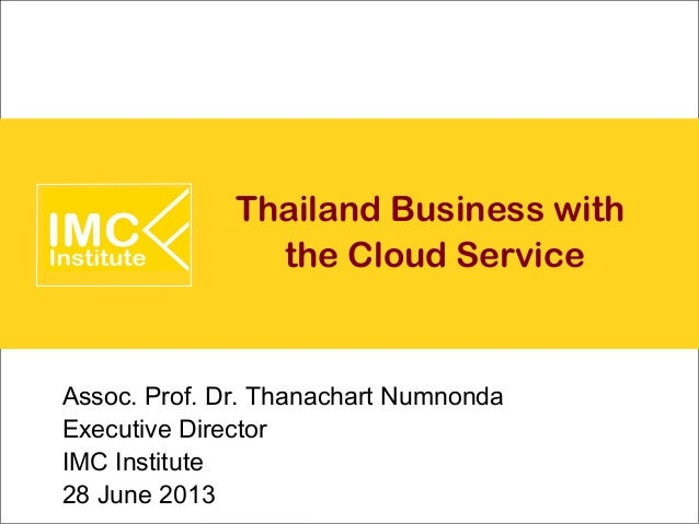 Thailand Business with  the Cloud Service