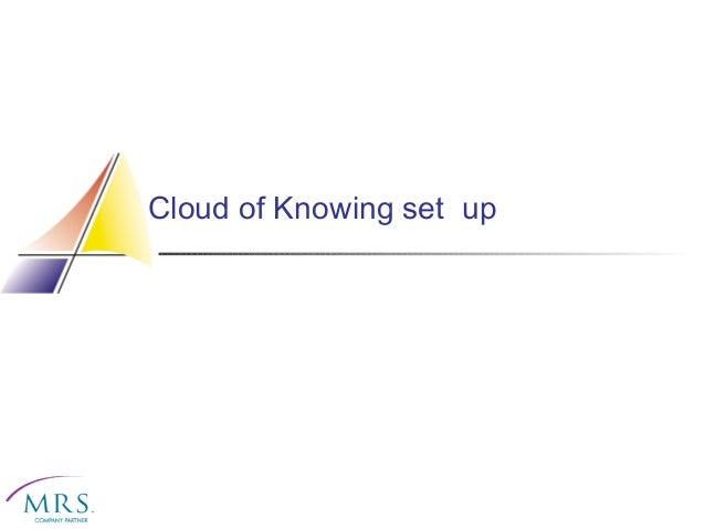 Cloud of Knowing set up