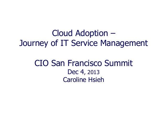 Cloud Adoption - Journey of IT Service Management