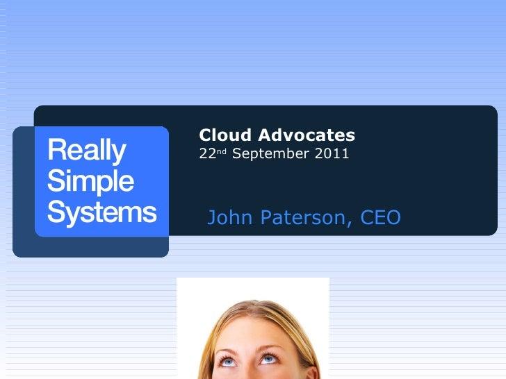 Using Cloud CRM - John Paterson