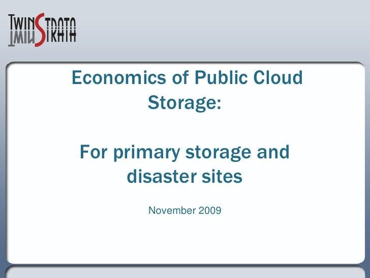 The Economics of Public Cloud Storage