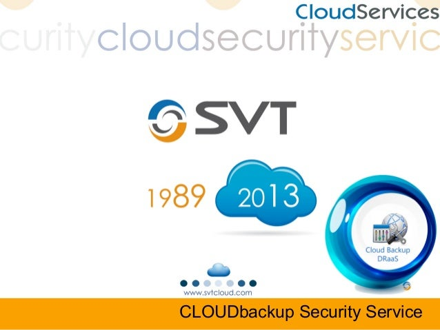 CLOUDbackup Security Service