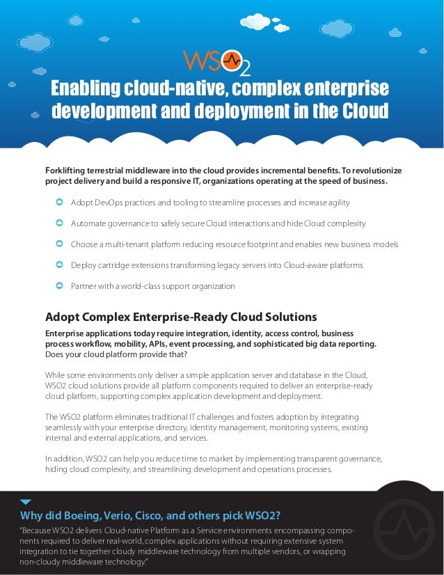 Adopt Complex Enterprise-Ready Cloud Solutions Enterprise applications today require integration, identity, access control...