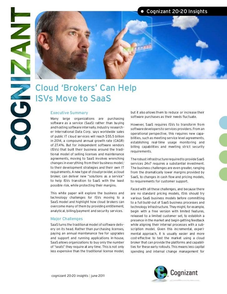 Cloud 'Brokers' Can Help ISVs Move To SaaS