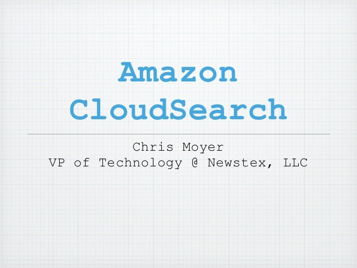 BarCamp cloudsearch