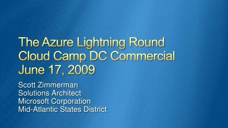 Cloud Camp DC Commercial 17Jun09