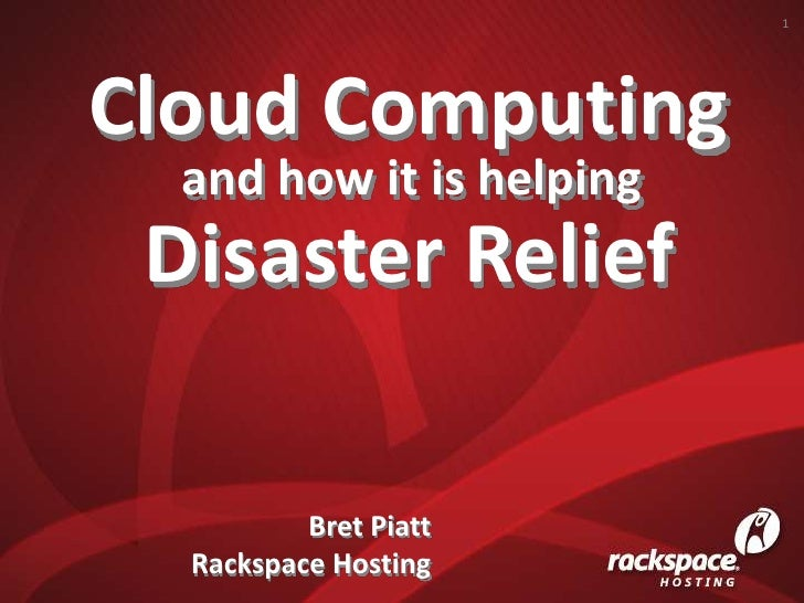 Cloud Computing and how it is helping Disaster Relief