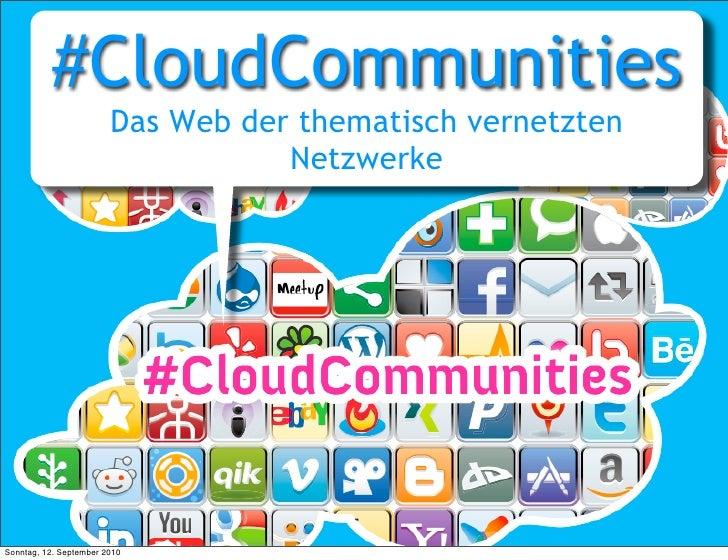 CloudCommunities- Das Web der vernetzten Netzwerke