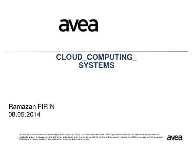 Cloud computig systems