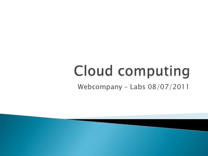 Webcompany [LABS]: Cloud Computing