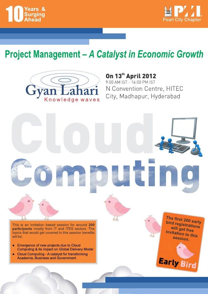 Cloud computing Session on PMI PCC's Conf 2012