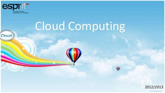Cloud Computing2012/2013