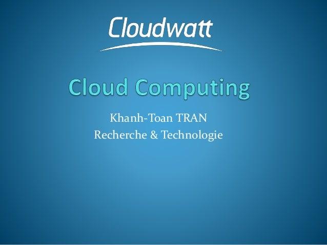 Khanh-Toan TRAN Recherche & Technologie
