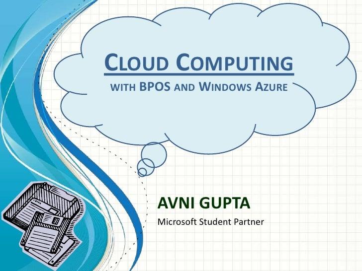 Cloud computing   bpos & windows azure oss