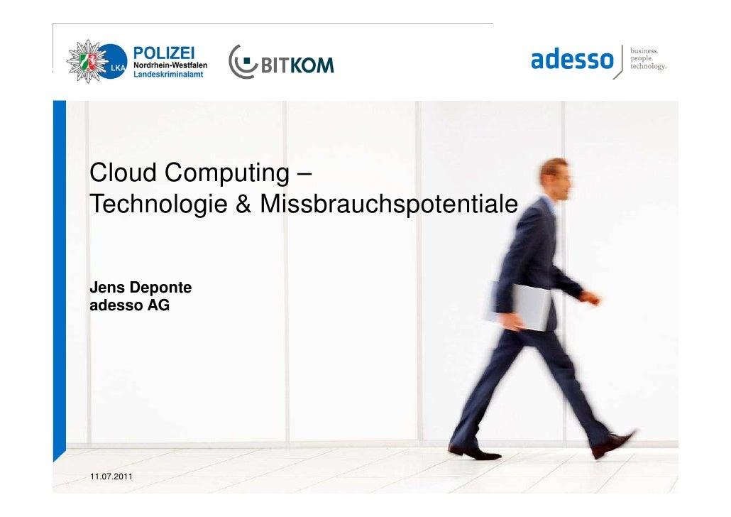 Cloud Computing - Technologie und Missbrauchspotentiale