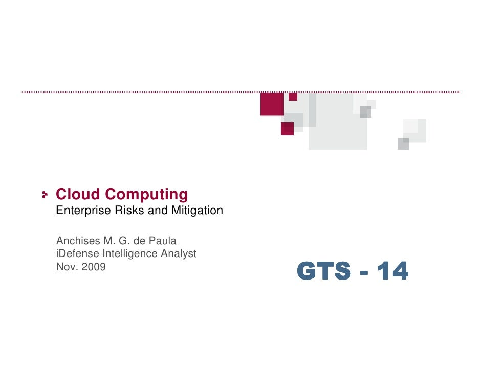 Cloud computing - Risks and Mitigation - GTS