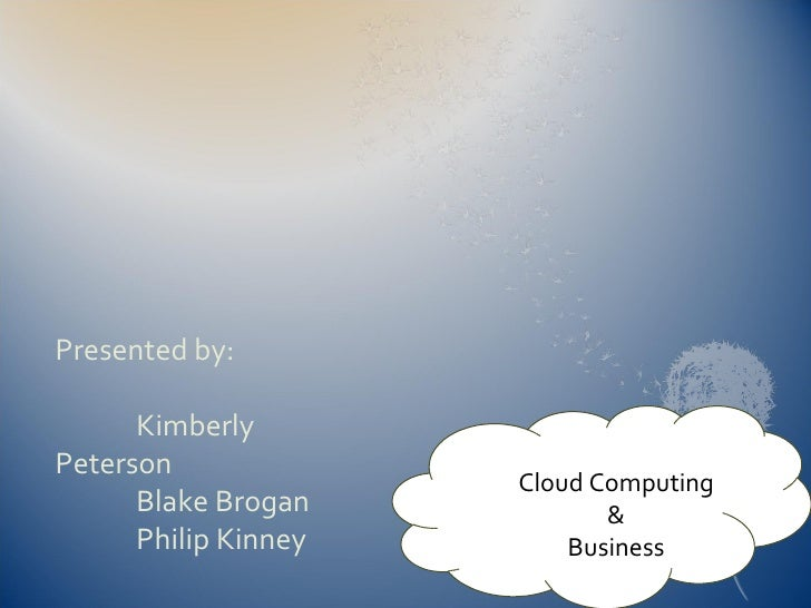 Cloud Computing And Business