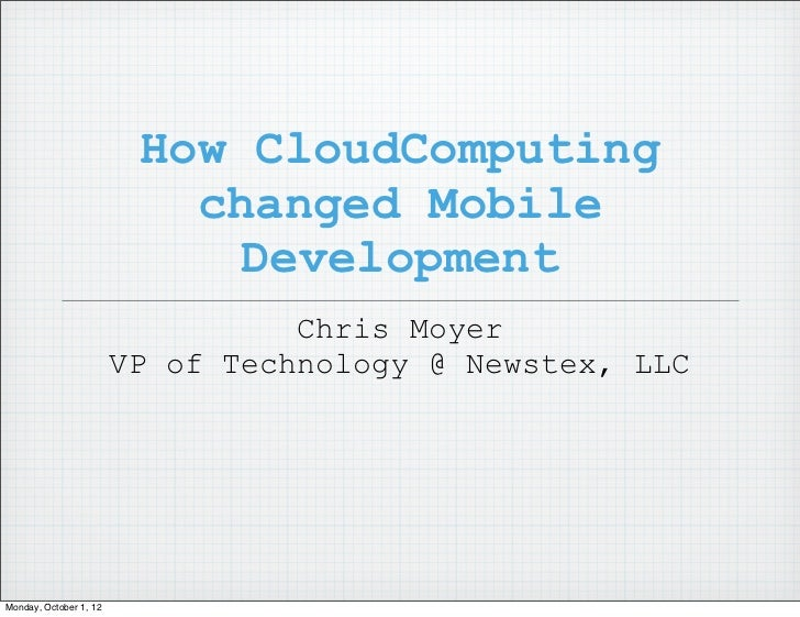 Cloud computing and mobile   rit