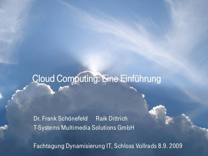 Cloud Computing: Eine Einführung