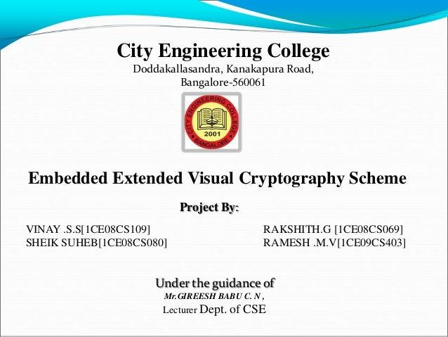 City Engineering College                 Doddakallasandra, Kanakapura Road,                         Bangalore-560061Embedd...