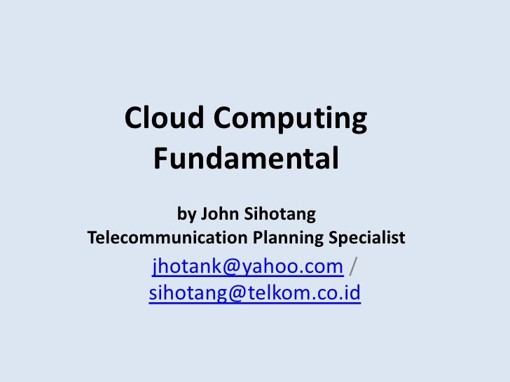 Prinsip Dasar Cloud Computing