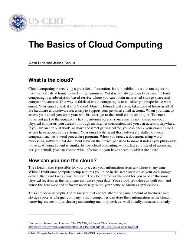 Cloud computinghuthcebula