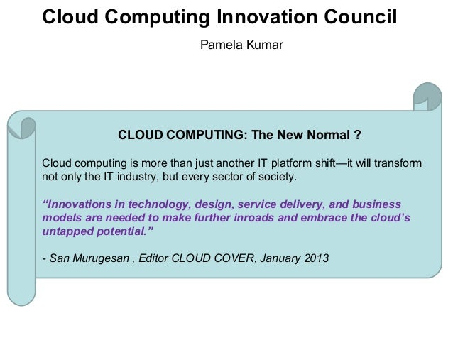 Cloud computing innovation council - Overview