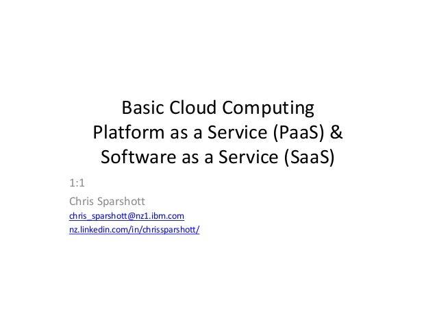 Cloud computing From Iaas to PaaS to SaaS