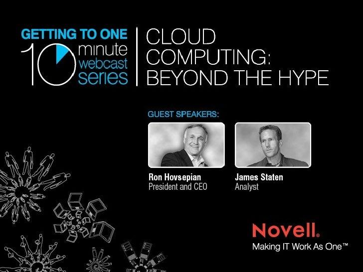 Cloud Computing: Beyond the Hype