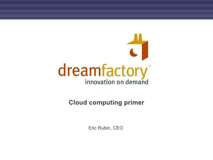 Cloud computing primer Eric Rubin, CEO