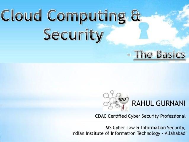 Cloud computing & security   basics