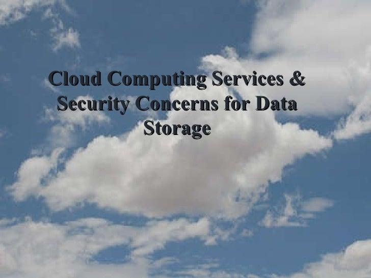 Cloud Computing & Security Concerns