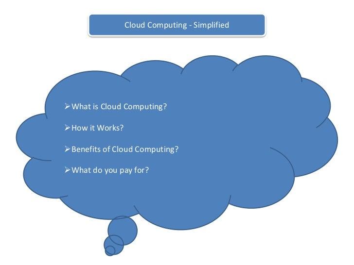 Cloud Computing - Simplified<br /><ul><li>What is Cloud Computing?