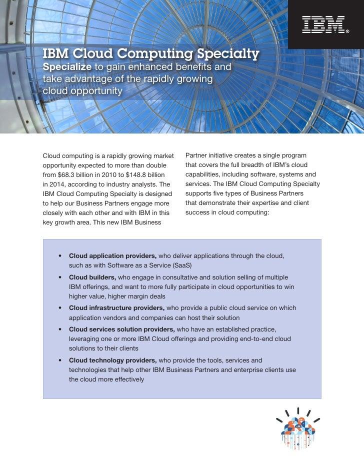 IBM Cloud Computing Specialty Brochure