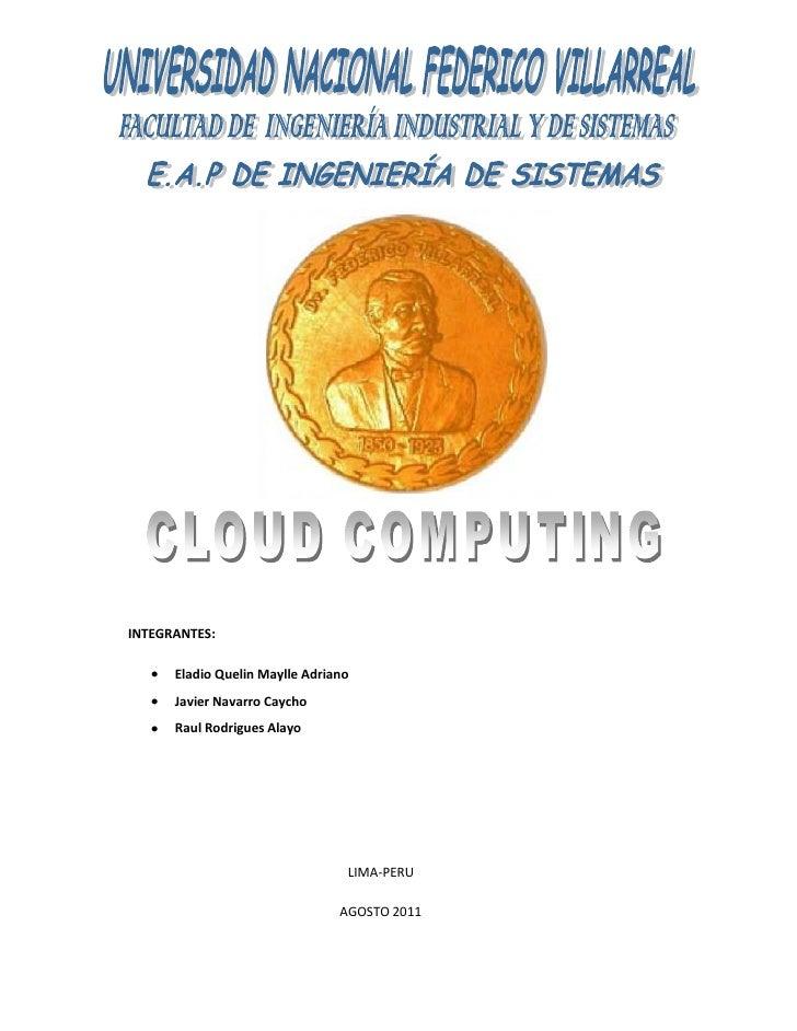Cloud computing trabajo final