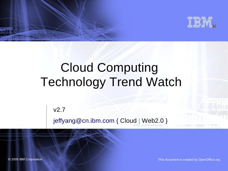 Cloud computing technology trend watch for Salon cloud computing
