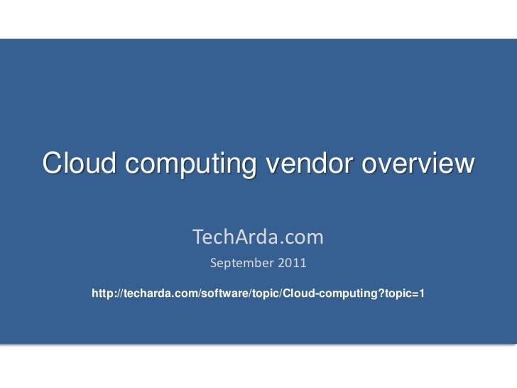 Cloud computing vendor landscape 2011
