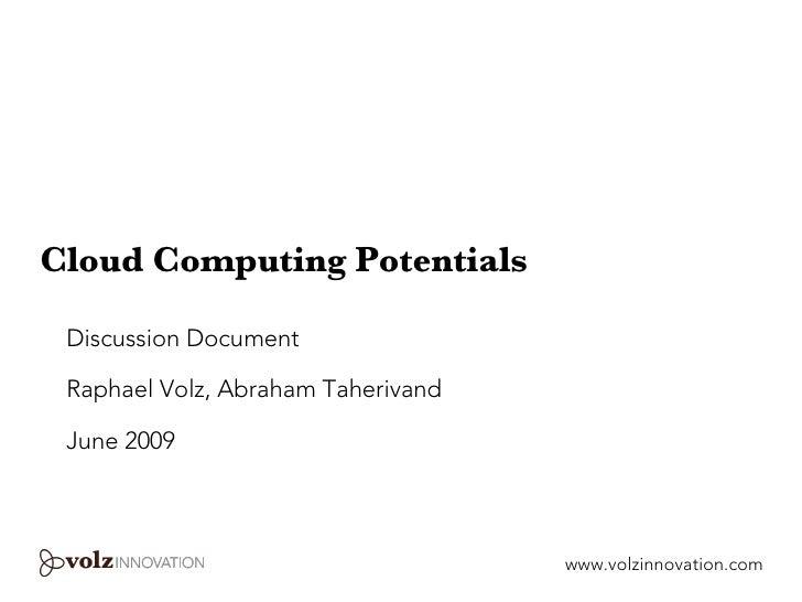 Cloud Computing Potentials
