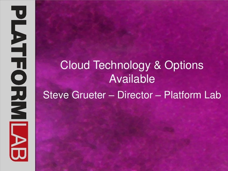 Cloud computing with Steve Greutter