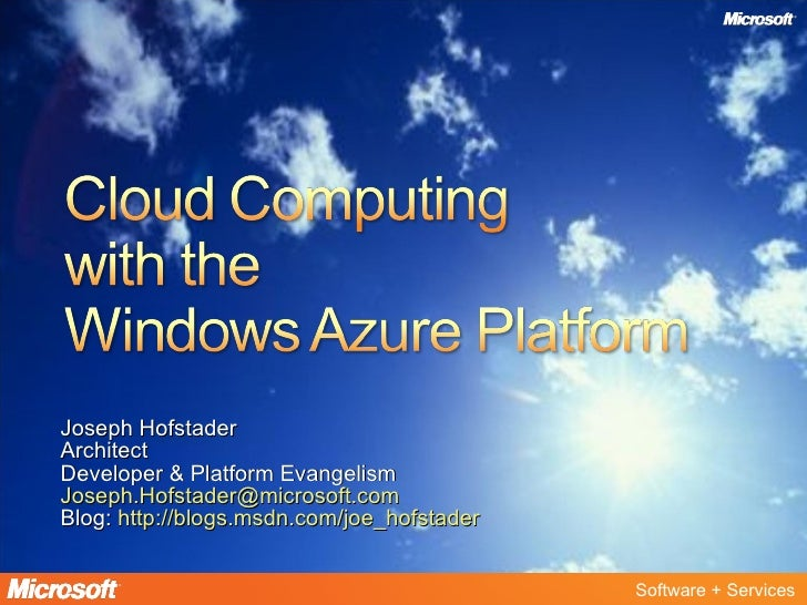 Cloud Computing With Windows Azure