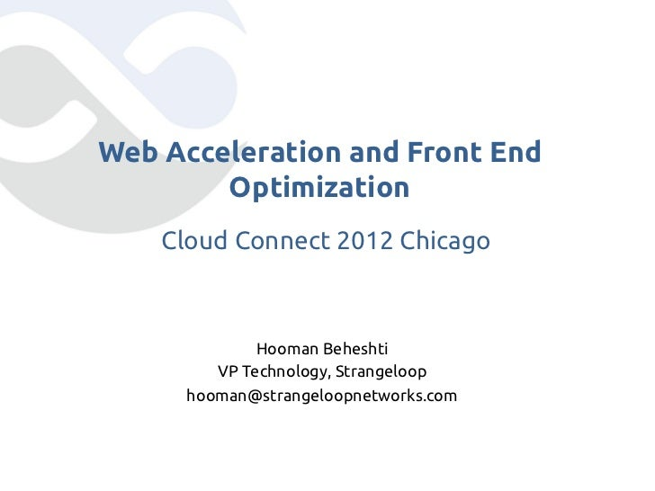 Cloud Performance: Guide to Tackling Cloud Latency [Cloud Connect - Chicago 2012]