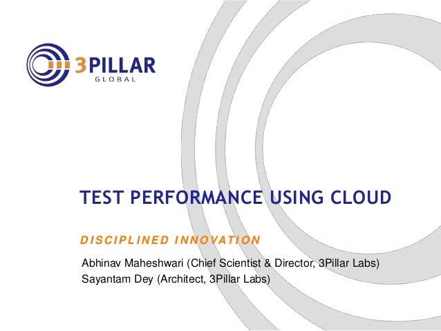 Cloud-based performance testing