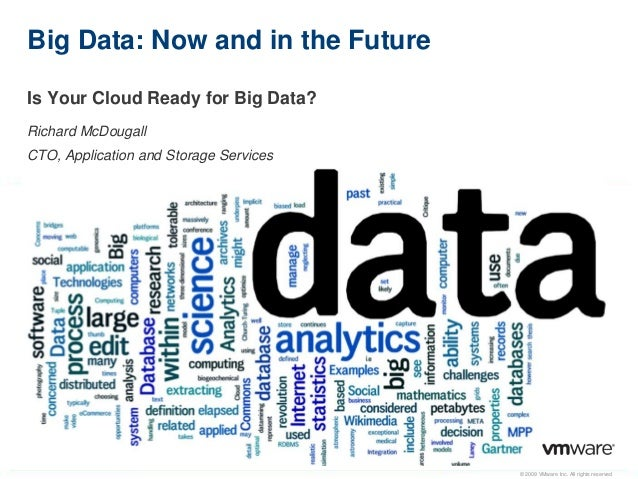 © 2009 VMware Inc. All rights reservedBig Data: Now and in the FutureIs Your Cloud Ready for Big Data?Richard McDougallCTO...