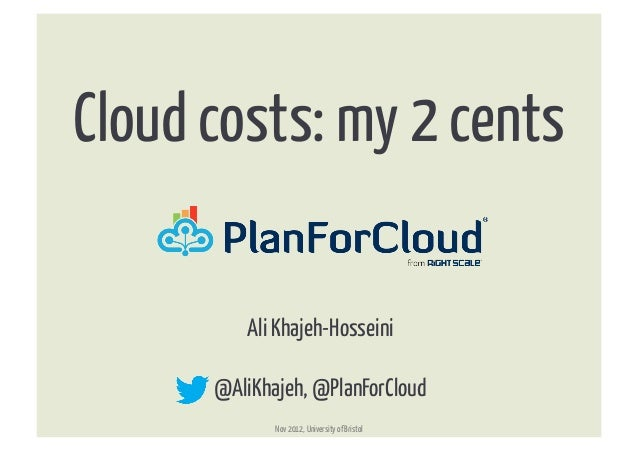 Cloud costs: my 2 cents