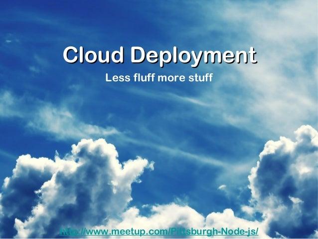 Node.js Cloud deployment
