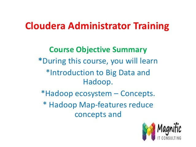 Cloudera administrator training