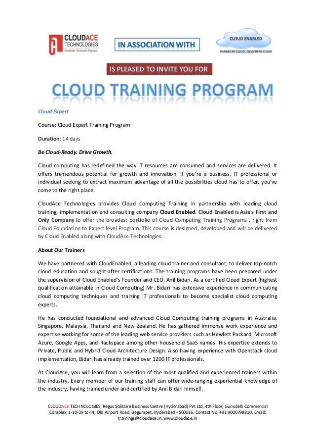 Cloud Expert Training