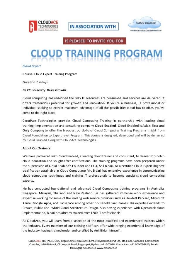 Cloud Expert Training