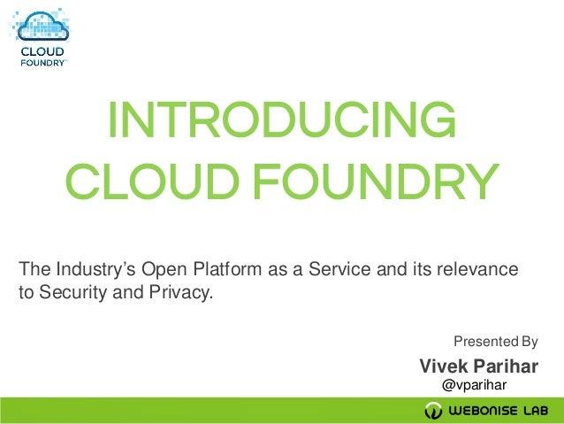 Cloud foundry presentation